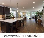 spacious modern kitchen with... | Shutterstock . vector #1173685618