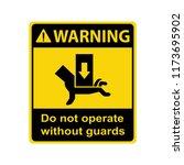 warning   crush hazard. do not...   Shutterstock .eps vector #1173695902