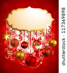 christmas background with place ... | Shutterstock . vector #117369898