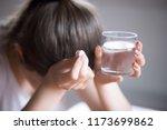 sick frustrated woman feel...   Shutterstock . vector #1173699862