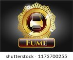 gold emblem or badge with... | Shutterstock .eps vector #1173700255
