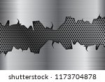 metal background with torn... | Shutterstock .eps vector #1173704878