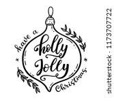 holly jolly lettering.... | Shutterstock .eps vector #1173707722