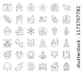 merry christmas icon set ... | Shutterstock .eps vector #1173707782