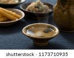 sake to taste with pottery | Shutterstock . vector #1173710935