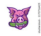 mascot icon illustration of... | Shutterstock .eps vector #1173716425