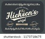 vintage calligraphic script... | Shutterstock .eps vector #1173718675