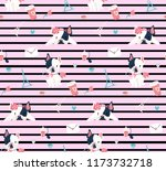 vintage striped french pattern... | Shutterstock .eps vector #1173732718