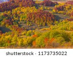autumn countryside panorama in... | Shutterstock . vector #1173735022