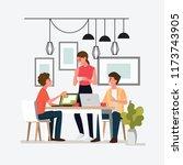 group people meeting doing... | Shutterstock .eps vector #1173743905