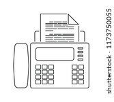 fax icon. thin line design.... | Shutterstock .eps vector #1173750055