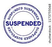 grunge blue suspended round...   Shutterstock .eps vector #1173755068