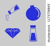 rock vector icons set. with... | Shutterstock .eps vector #1173758845