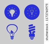 lightbulb vector icons set.... | Shutterstock .eps vector #1173760975