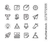 startup linear icon set....