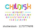 childish colorful font ... | Shutterstock .eps vector #1173779698
