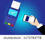 pos terminal and payments... | Shutterstock .eps vector #1173783778