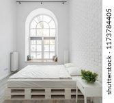 white bedroom with trendy... | Shutterstock . vector #1173784405
