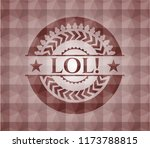 lol  red seamless emblem or... | Shutterstock .eps vector #1173788815