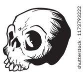 skull cartoon illustration...   Shutterstock .eps vector #1173793222