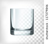 empty drinking glass cup.... | Shutterstock .eps vector #117379846