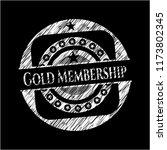 gold membership on blackboard | Shutterstock .eps vector #1173802345