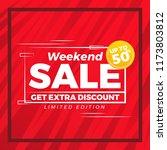 abstract weekend sale modern... | Shutterstock .eps vector #1173803812
