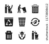 reuse icon. 9 reuse vector... | Shutterstock .eps vector #1173808612