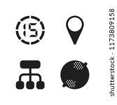 macro icon. 4 macro vector... | Shutterstock .eps vector #1173809158