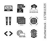 tech icon. 9 tech vector icons...   Shutterstock .eps vector #1173811525