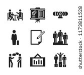 discussion icon. 9 discussion... | Shutterstock .eps vector #1173811528