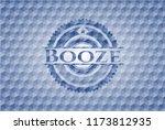 booze blue polygonal emblem. | Shutterstock .eps vector #1173812935