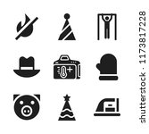 warm icon. 9 warm vector icons...   Shutterstock .eps vector #1173817228