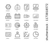 set of 16 simple line icons... | Shutterstock .eps vector #1173818572