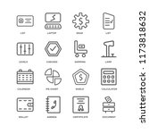 set of 16 simple line icons... | Shutterstock .eps vector #1173818632