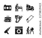 manual icon. 9 manual vector... | Shutterstock .eps vector #1173819415
