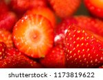 delicious strawberries cut for... | Shutterstock . vector #1173819622