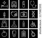vector illustration of icons on ... | Shutterstock .eps vector #117382102