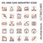 oil and gas industry  icon set... | Shutterstock .eps vector #1173821485