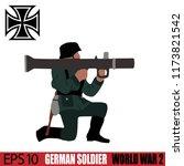 german soldier of world war 2.... | Shutterstock .eps vector #1173821542