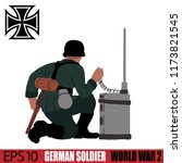 german soldier of world war 2.... | Shutterstock .eps vector #1173821545