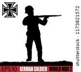 silhouette of german soldier of ... | Shutterstock .eps vector #1173821572