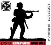 silhouette of german soldier of ... | Shutterstock .eps vector #1173821575
