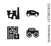 automotive icon. 4 automotive...   Shutterstock .eps vector #1173821815