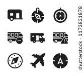 voyage icon. 9 voyage vector... | Shutterstock .eps vector #1173821878