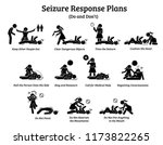 what to do during a seizure....   Shutterstock .eps vector #1173822265