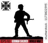 silhouette of german soldier of ... | Shutterstock .eps vector #1173822595