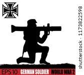 silhouette of german soldier of ... | Shutterstock .eps vector #1173822598