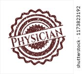 red physician distressed grunge ... | Shutterstock .eps vector #1173823192