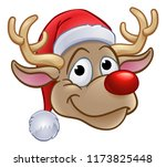 an illustration of reindeer in... | Shutterstock . vector #1173825448